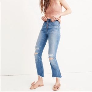Madewell Cali Demi Boot Distressed Jeans